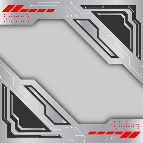 Grijze en zilveren kleuren vector achtergrond. Digitaal technologie abstract concept als achtergrond