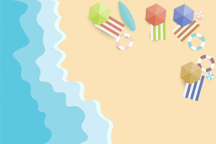 Bekijk zomer strand en zee achtergrond