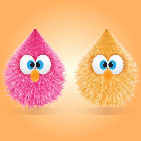 Due divertenti bambole pelose