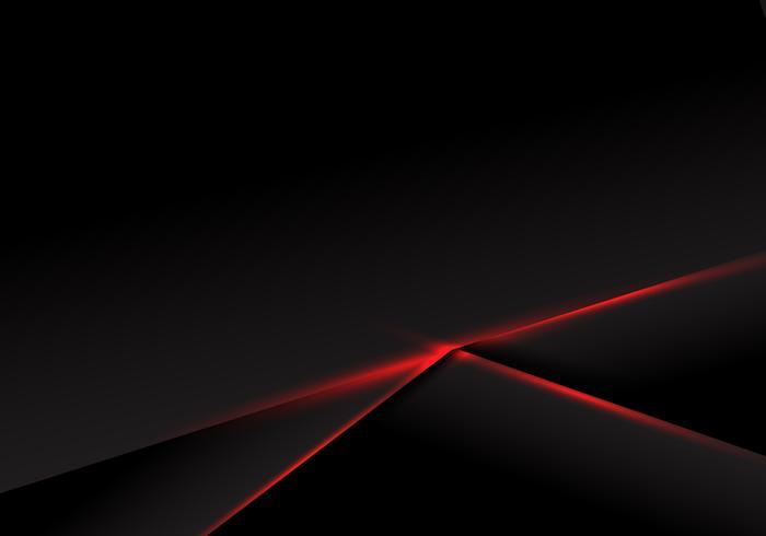 Modèle abstrait cadre noir mise en page lumière rouge métallique sur fond sombre. Concept technologique futuriste.
