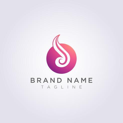Conception combinée de logo à partir de cercles avec de beaux ornements pour votre entreprise ou votre marque