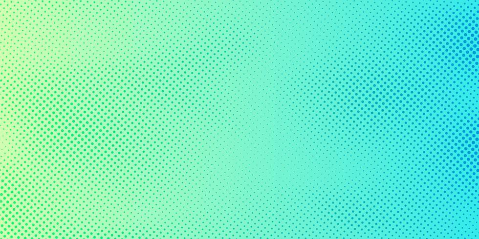 Abstrakter hellgrüner und blauer Steigungsfarbhintergrund mit Halbtonmusterbeschaffenheit. Kreative Cover-Design-Vorlage