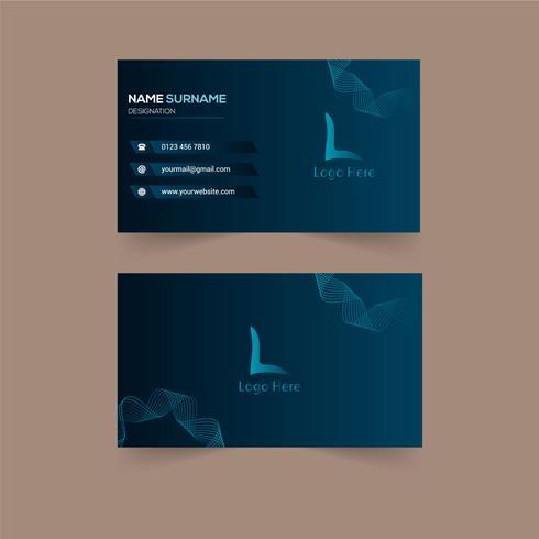 Kreatives Visitenkarten Design Download Kostenlos Vector
