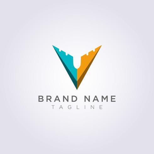 Logo-ontwerp Gecombineerde V en vliegtuigen voor bedrijven of uw merk