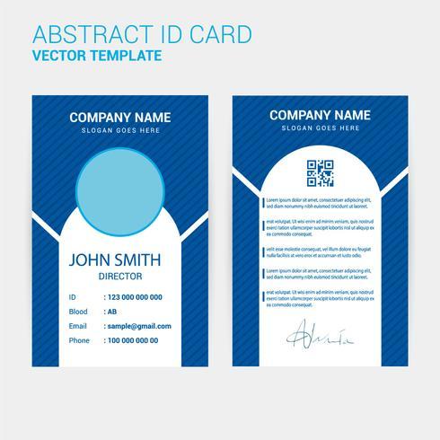 ID Card Design Template vector
