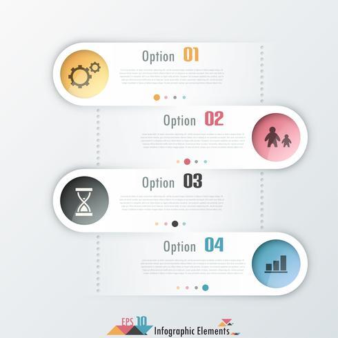 Moderna infografiska alternativ banner.
