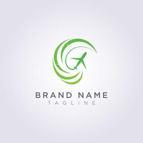 Création de logo Feuilles circulaires combinées avec des formes abstraites et des plans pour votre entreprise ou votre marque