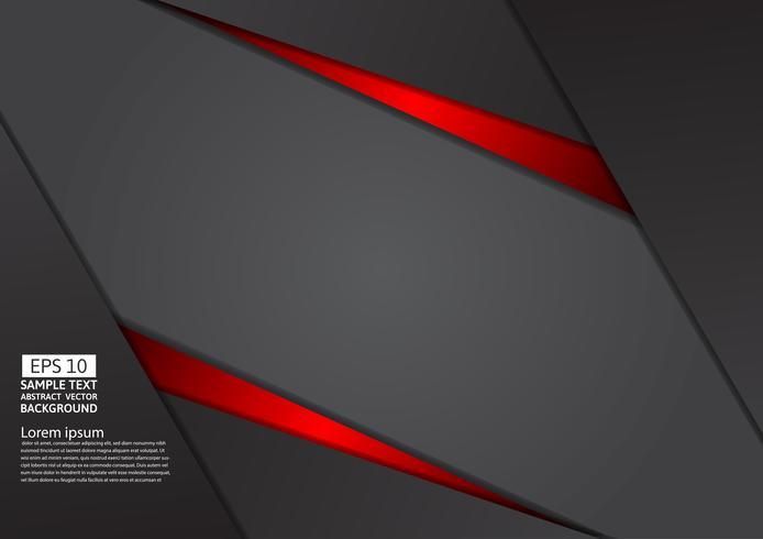 Geometrische abstracte rode en zwarte kleur als achtergrond met exemplaar ruimte, Vectorillustratie
