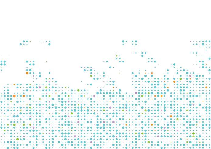Kreis-Zusammenfassungshintergrund des Mehrfarbenvektors geometrischer. Gepunktete Textur-Muster im Halbton-Stil
