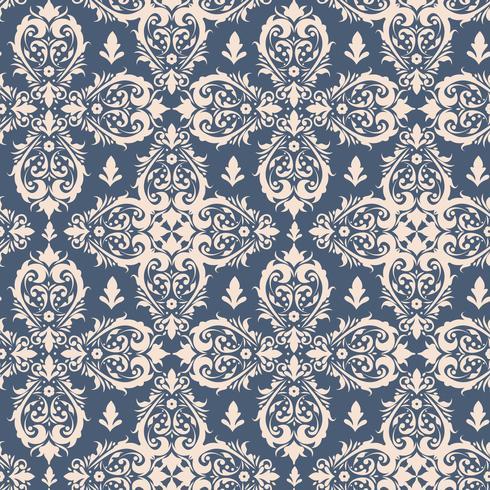 Royal victorian seamless pattern. Damask royal pattern