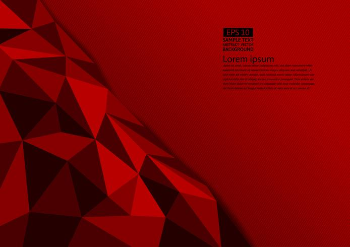 Red color polygon abstract background with copy space, Vector illustration eps10