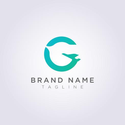 Combinazione Logo Design delle lettere G e degli aerei per la tua azienda o il tuo marchio