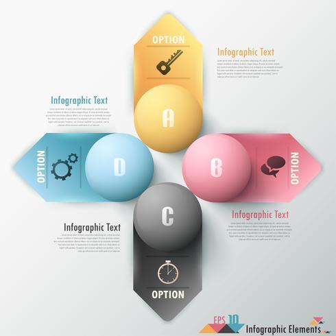 Moderne infographic optiesbanner.