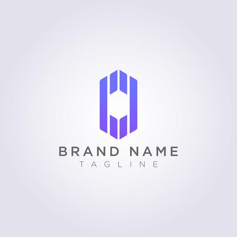 Abstract polygon shaped logo design extends up and down for your Business or Brand