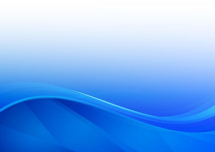 Illustrazione di vettore del fondo dell'estratto dell'onda blu