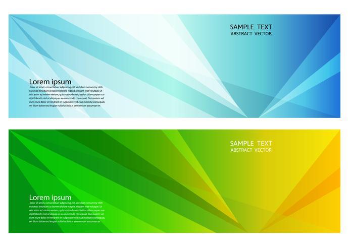 Geometrischer abstrakter Hintergrund der blauen und grünen Farbe mit Kopienraum, Vektorillustration für Fahne Ihres Geschäfts