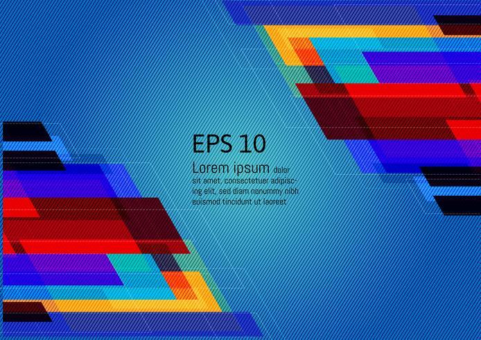 Fundo abstrato geométrico multicolorido com espaço de cópia, ilustração vetorial EPS10