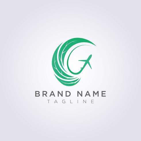 Logo Design Foglie circolari combinate con forme e piani astratti per il tuo Business o Brand