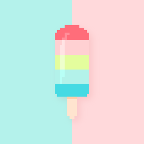 pixel art popsicle vector