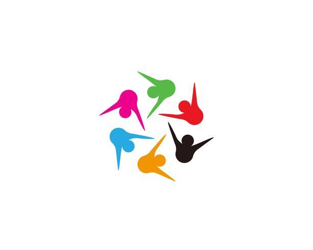 Icône de communauté, réseau et réseau social