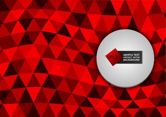 Nouveau design triangles de couleur rouge design moderne abstrait, illustration vectorielle