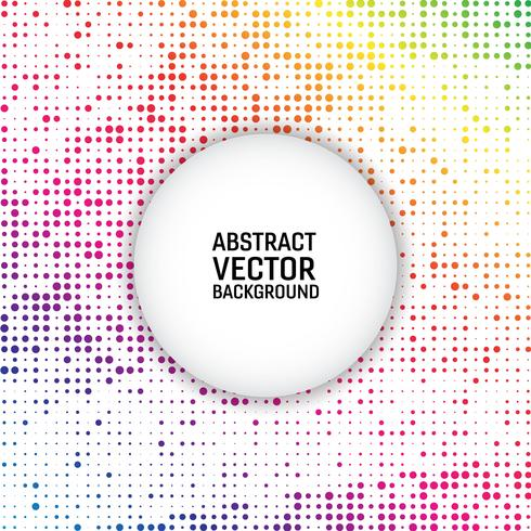 Rainbow color vector modern geometrical circle abstract background. Dotted texture template. Geometric pattern in halftone style