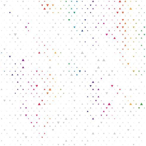 Fondo geométrico moderno del extracto del triángulo del vector del color del arco iris. Plantilla de textura de puntos. Patrón geométrico en estilo de semitono