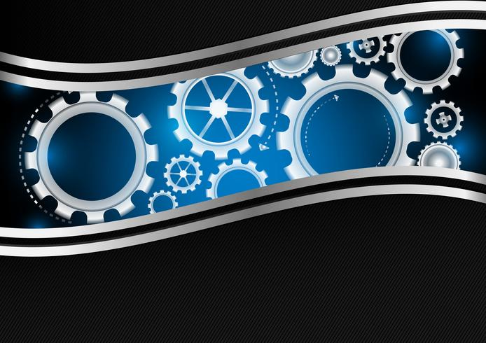 Vector gear with copy space abstract background