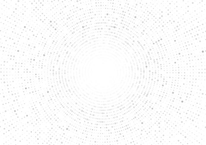 Estratto geometrico del cerchio di vettore grigio su fondo bianco. Modello trama tratteggiata in stile mezzitoni