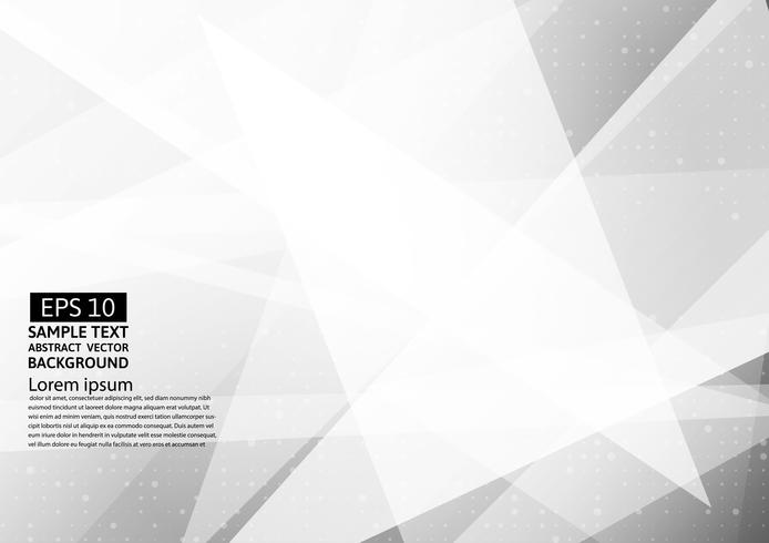 White and gray color polygon abstract vector modern design background, with copy space for your business