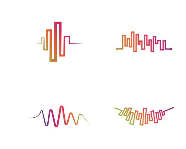 Ilustração do vetor de ondas sonoras