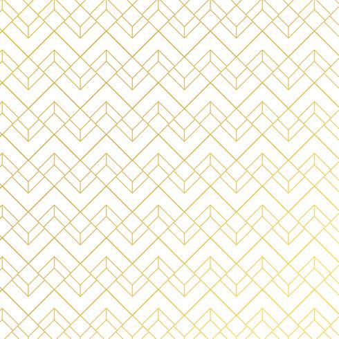 Gouden geometrisch patroon met lijnen op witte blauwe achtergrondart decostijl.