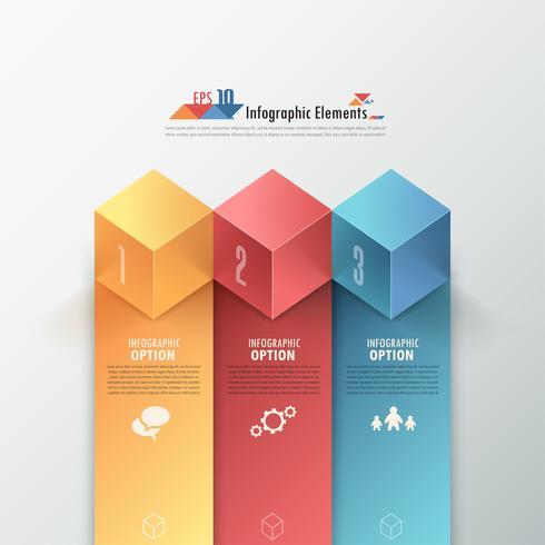 Insegna moderna di opzioni di Infographics.