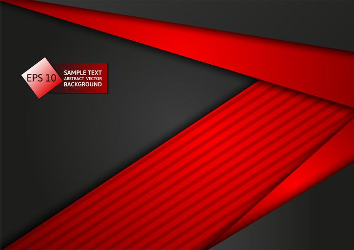 Red and black color abstract geometric technology modern design background, vector illustration. for your business
