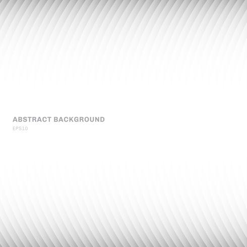 Intestazione e piedi a fondo geometrici bianchi e grigi astratti della curva di colore di pendenza astratta su fondo bianco con lo spazio della copia