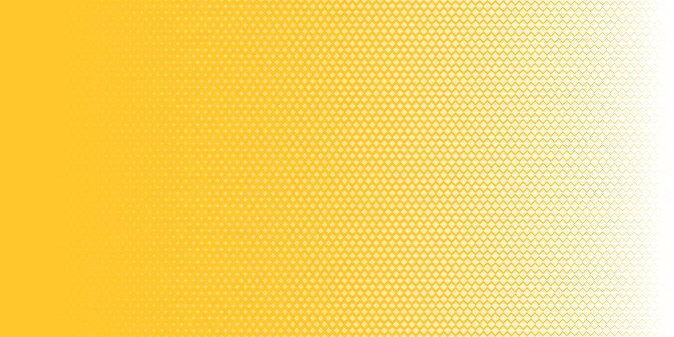 Abstracte witte halftone textuur van het vierkantenpatroon horizontaal op gele achtergrondpop-artstijl. U kunt gebruiken voor ontwerpelementen presentatie, banner web, brochure, poster, folder, flyer, enz.