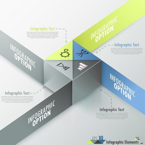 Moderne infographics opties Banner.