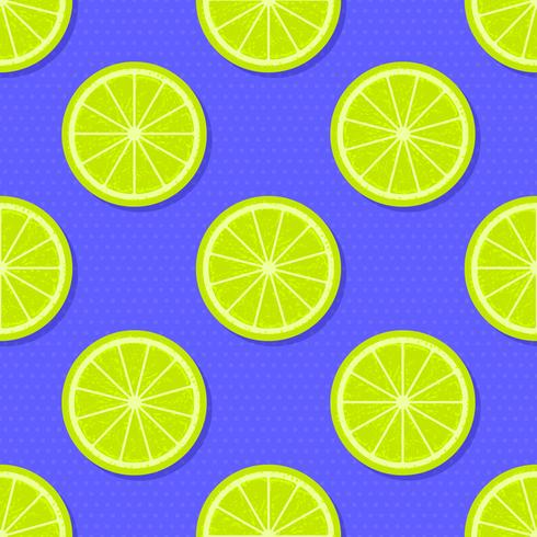 Tranches de citron vert vecteur