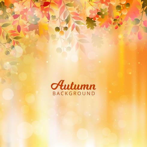 Fondo de otoño con hojas
