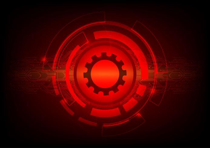 Concept de technologie numérique abstrait couleur rouge. Illustration vectorielle