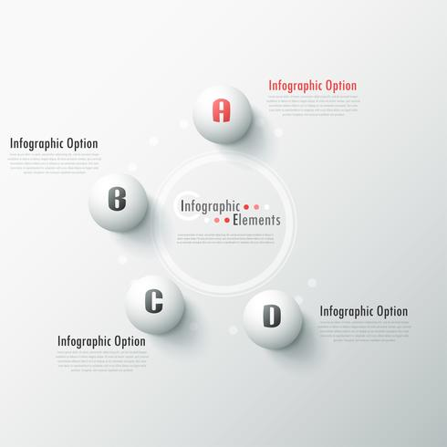 Moderne Infografik Optionen Banner.