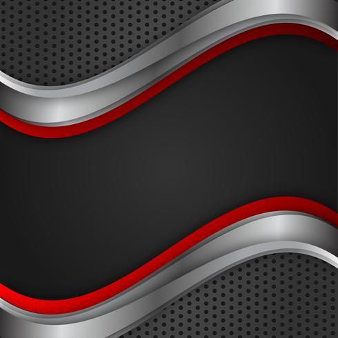 Vector de fondo geométrico abstracto color rojo y negro con espacio de copia