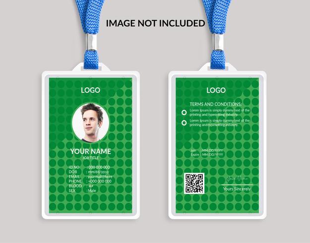 Green Nice Carte d'identité géniale 15 vecteur