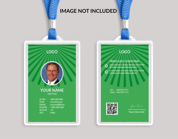 Groene elegante identiteitskaartsjabloon 16