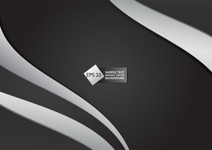 Zwarte en grijze kleuren abstracte geometrische vectorillustratie als achtergrond