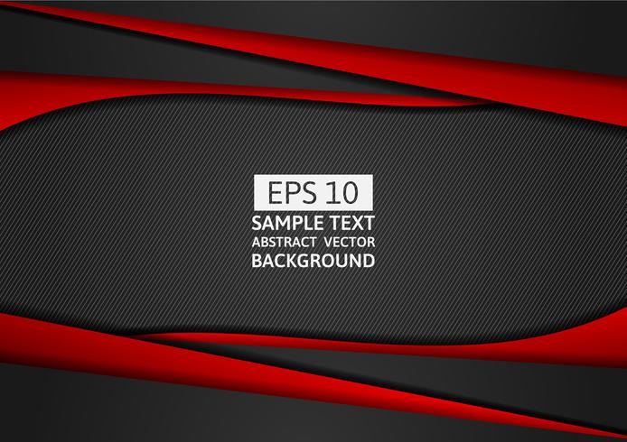 Vermelho e preto geométrico abstrato design moderno com espaço de cópia para o seu negócio, eps10 de ilustração vetorial
