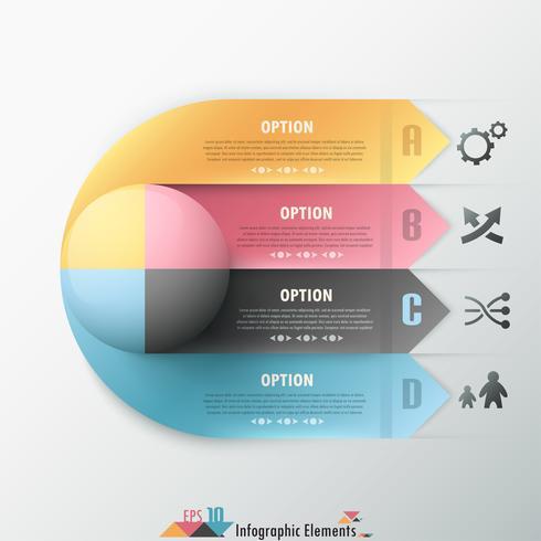 Banner infografía moderna opciones.