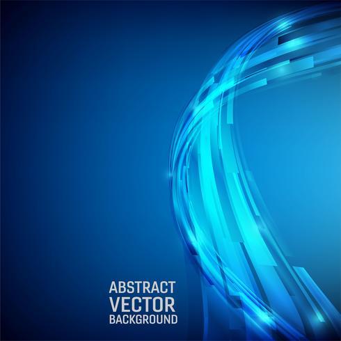 Abstrait géométrique de couleur bleue. Style d'onde design avec espace de copie