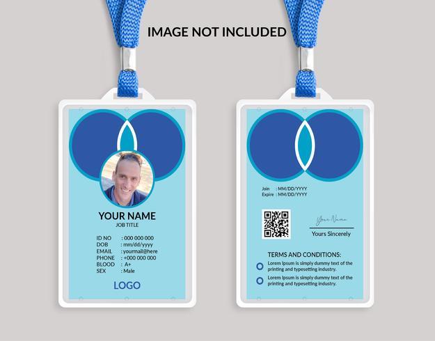 Modèle de belle carte d'identité bleue 20