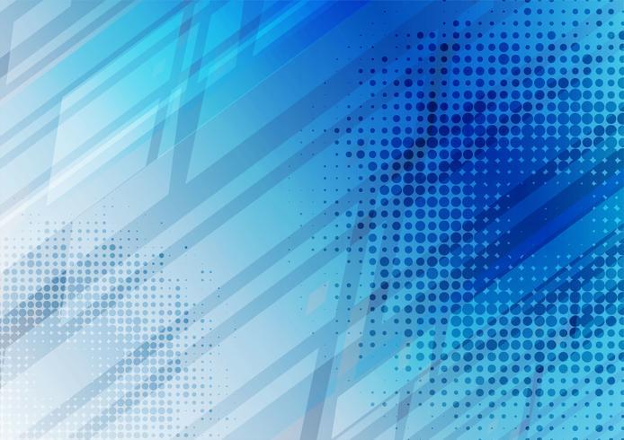 Fondo abstracto geométrico de color azul con espacio de copia, ilustración vectorial